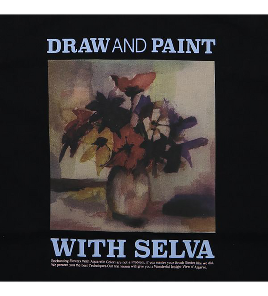 Draw and Paint t-shirt 100% Organic Cotton. Selva Apparel is a streetwear brand from Algarve , Portugal