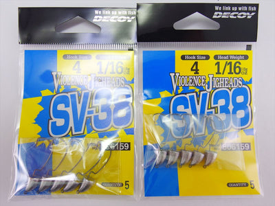 2pack x SV-38 VIOLENCE JIGHEADS HOOK