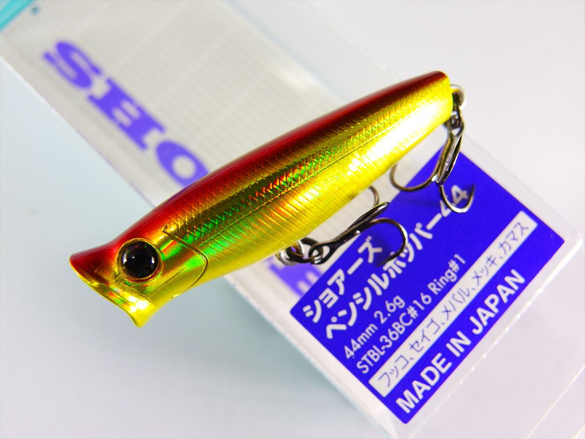 SHORES PENCIL POPPER SPP44 44mm 2.6g #17 IKA CLEAR GLOW BALLY TACKLE HOUSE