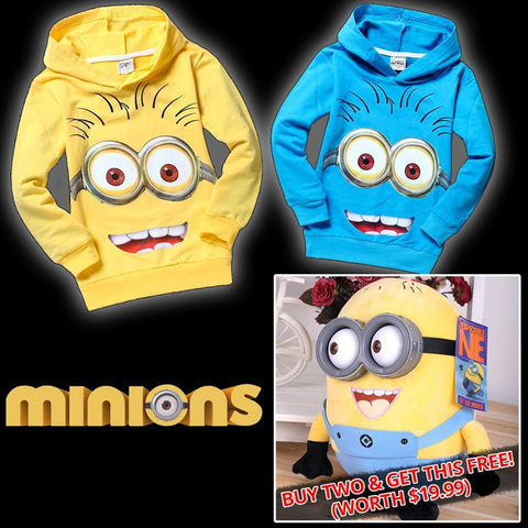 Despicable Me Boys/Girls Minion Hoodie