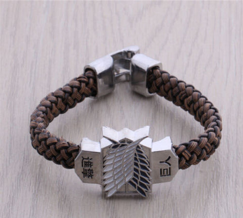 Attack On Titan Survey Corps Leather Bracelet