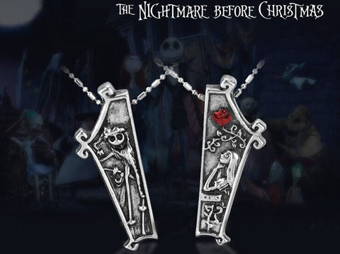Nightmare Before Christmas Couples Love Pendant Set