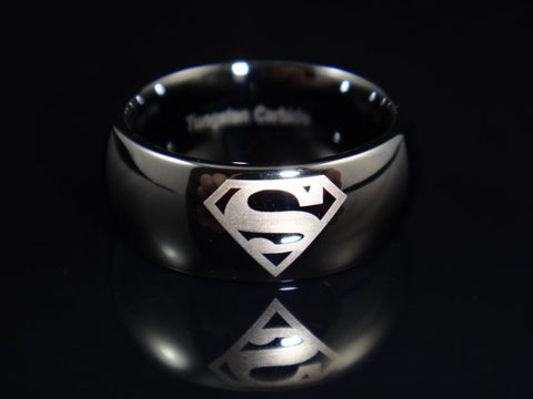 Black Superman Tungsten Carbide Ring