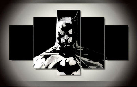 B-man - Black and White 5 Piece Canvas LIMITED EDITION