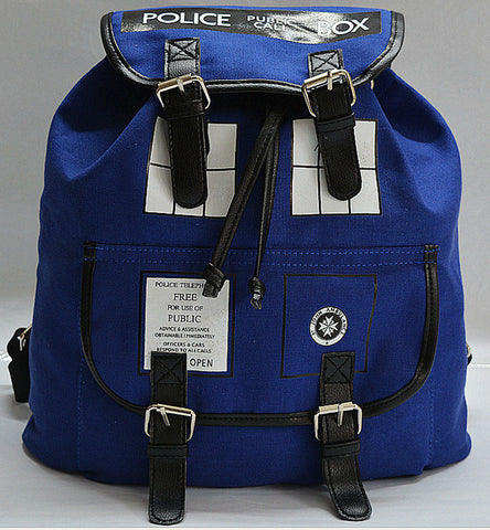Doctor Who Blue Police Box Backpack