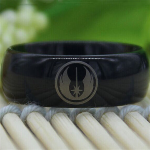 Black Star Wars Jedi Tungsten Ring