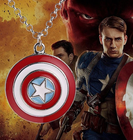 Captain America Star Shield Pendant & Necklace