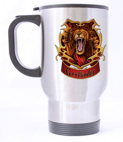 Gryffindor Harry Potter Custom Travel Mug - Lion Face