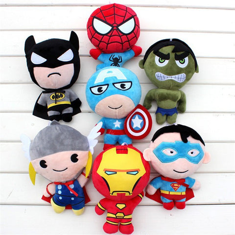 20cm Super Heroes Captain America Iron Man Batman Spiderman Thor & Superman Dolls