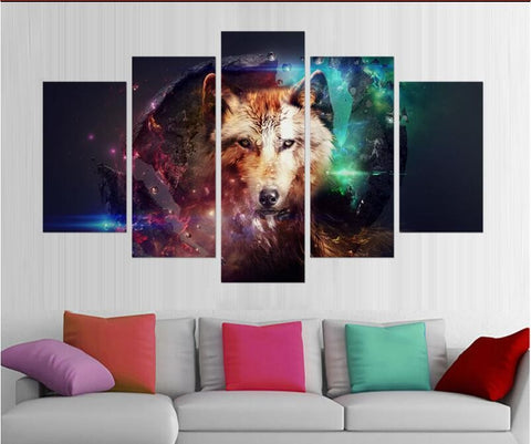 Wolf Universe 5 Piece Limited Edition Canvas