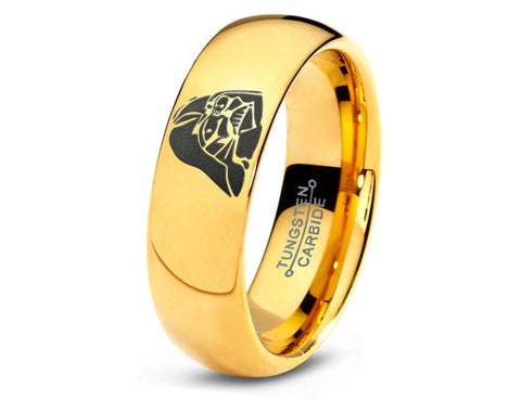 18K Gold Star Wars Darth Vader Tungsten Ring