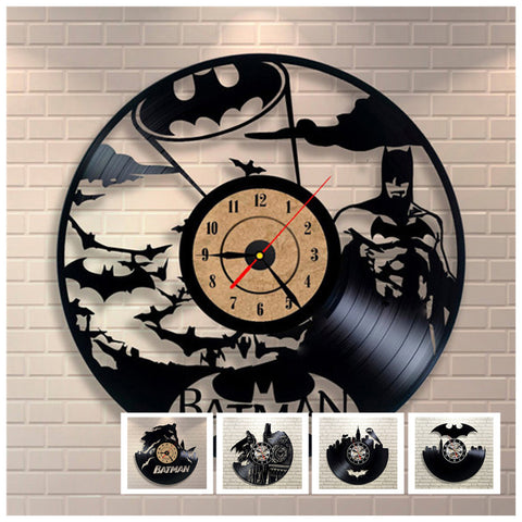 Batman 3D Vinyl Record Wall Clocks