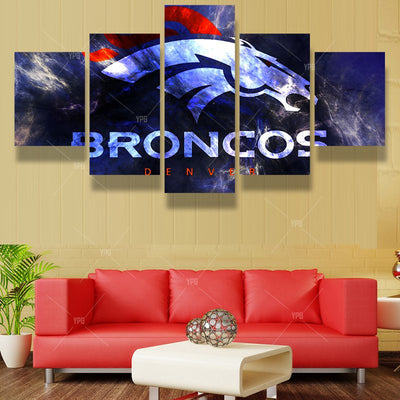 American Flag Broncos - 5 Piece Canvas