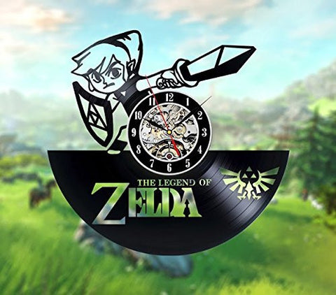 The Legend of Zelda 3D Vinyl Record Clocks