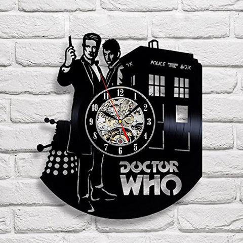 Doctor Who 3D Vinyl Record Wall Clock