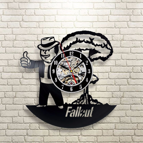 Fallout 3D Vinyl Record Wall Clocks