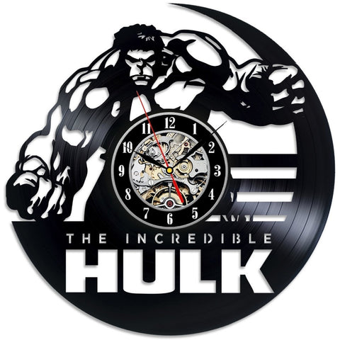 The Hulk 3D Vinyl Record Wall Clock