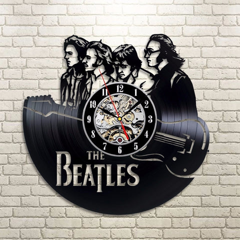 The Beatles 3D Vinyl Record Clock