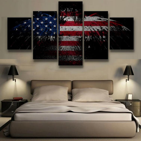American Eagle Flag - 5 Piece Canvas