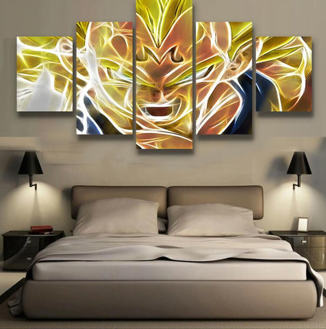Badidi Super Saiyan 5 Piece Canvas