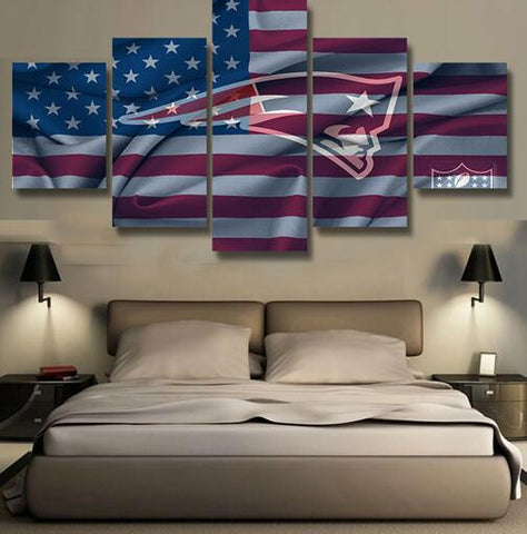 Patriots American Flag 5 Piece Canvas