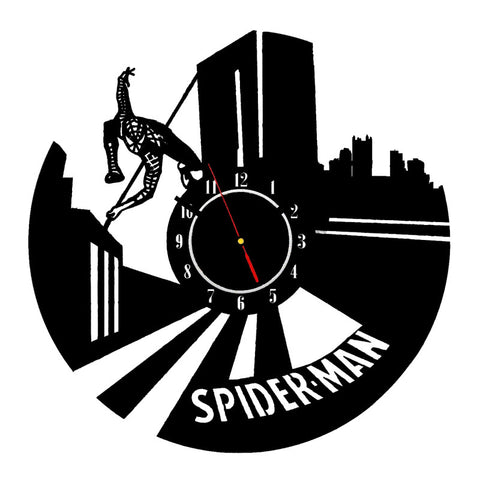 Spiderman 3D Vinyl Record Wall Clocks