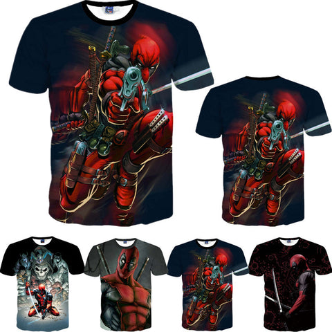 Deadpool 3D T Shirts
