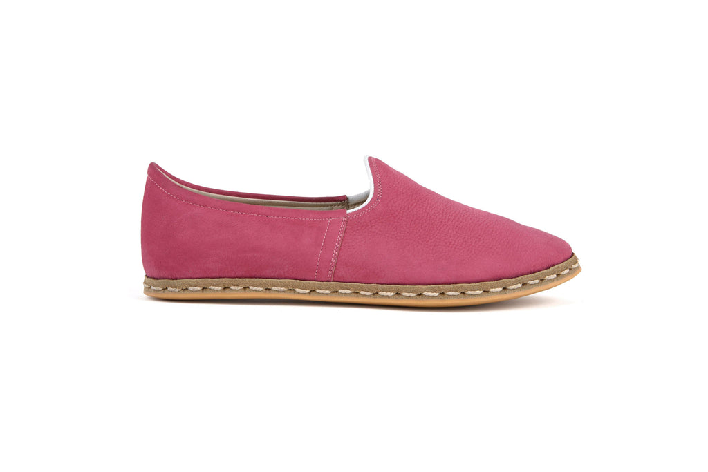 Flat Flours Pink Suede Shoes