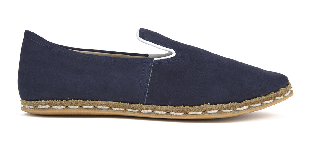 Flat Fours Navy Suede Shoe