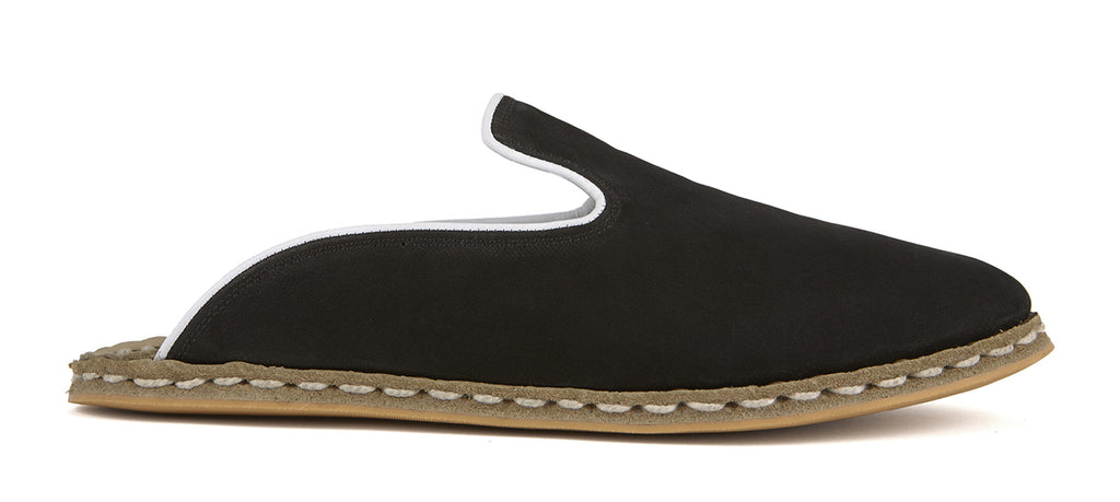 Flat Fours Slip-On Black Suede Shoe