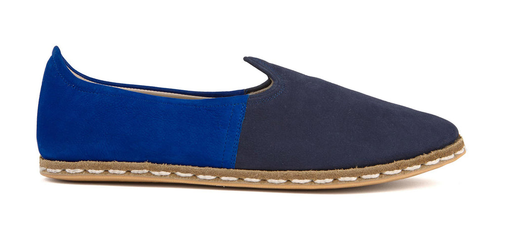 Flat Fours Navy/Cobalt Blue Suede Shoe