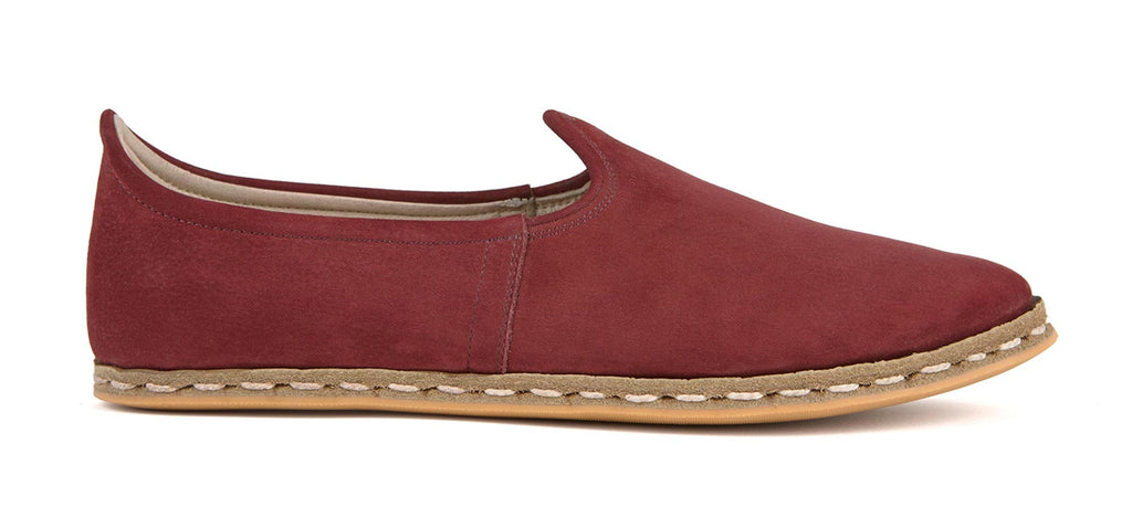 Flat Fours Burgundy Suede Shoe