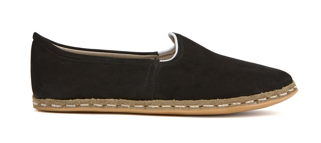 Flat Fours Black Suede Shoe