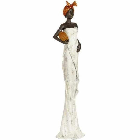 African Lady Bowl Under Arm Figurine