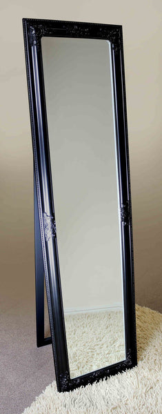 Black Full Length Cheval Mirror