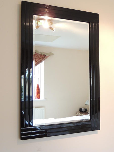Black Art Deco Mirror