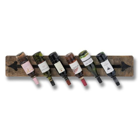 Rustic Six Bottle Wine Rack