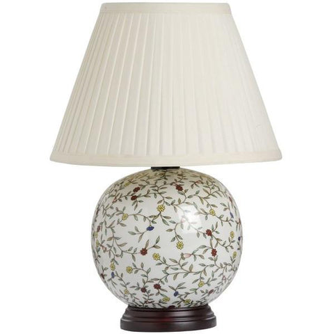 Flower Ball Ceramic Table Lamp