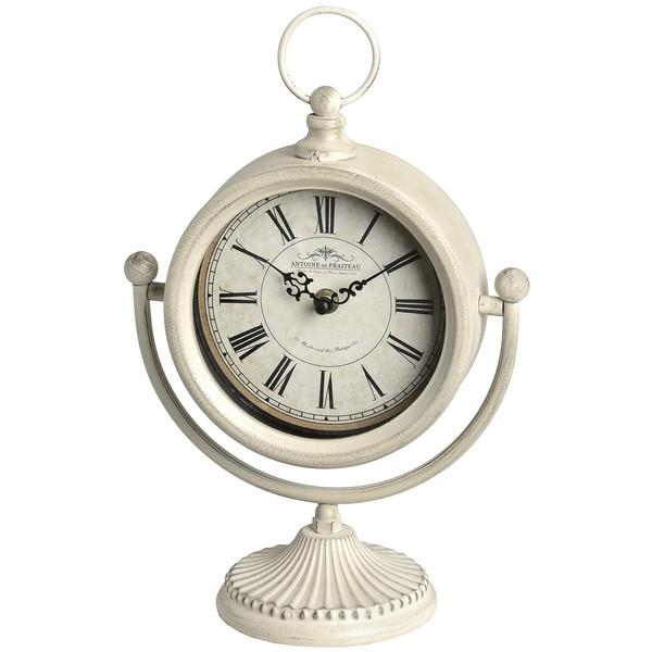 Cream Swinging Mantle Piece Clock