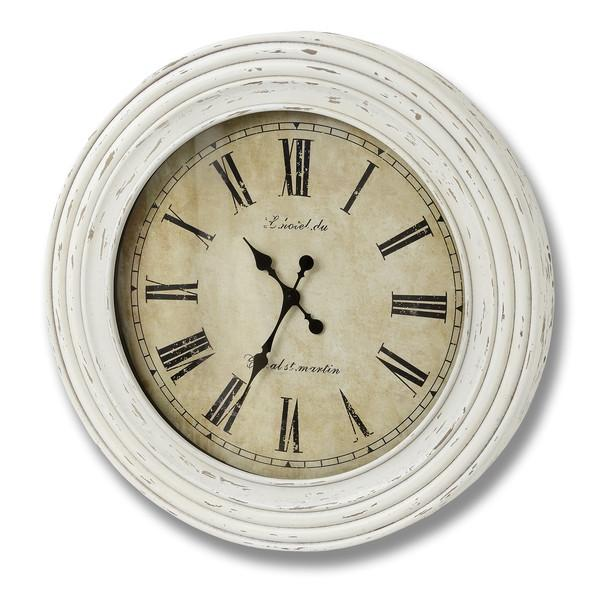 Antique Cream Linoildu Round Wall Clock