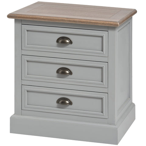 Churchill Three Drawer Bedside Cabinet