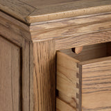 Dorchester Oak Five Drawer Tallboy