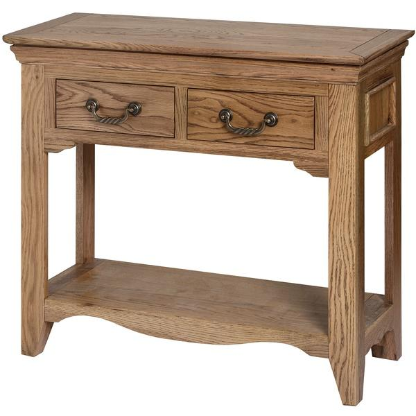 Dorchester Oak Two Drawer Hall Table