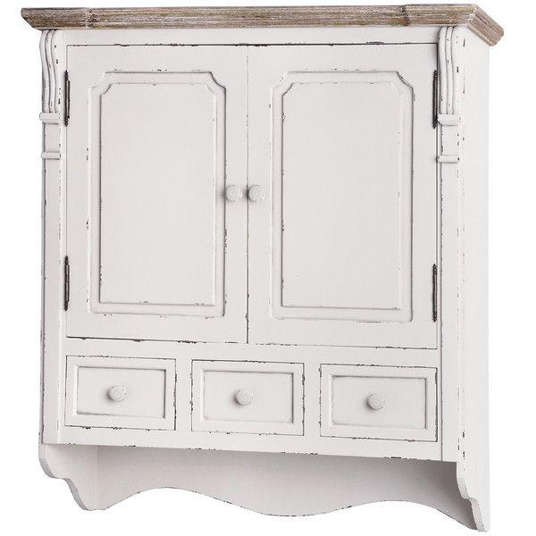 New England Wall Mounted Cupboard With Drawers