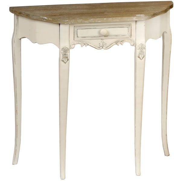 Country Curved Console Table