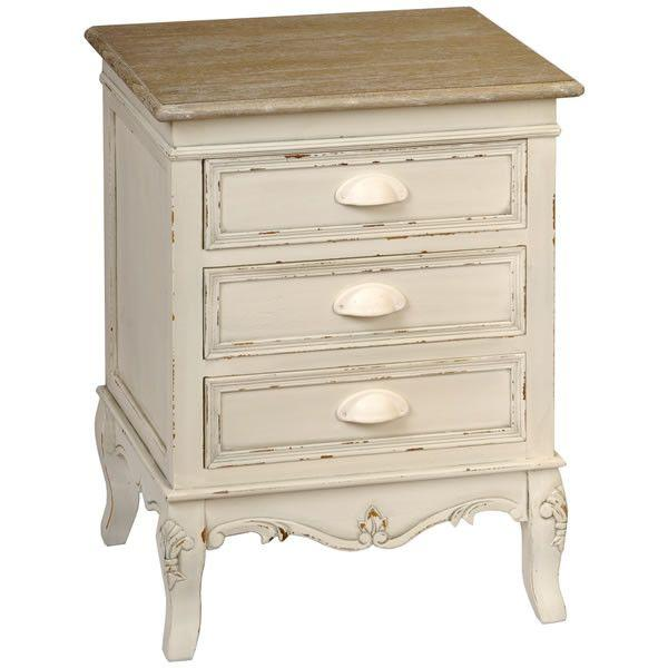 Country 3 Drawer Bedside Unit