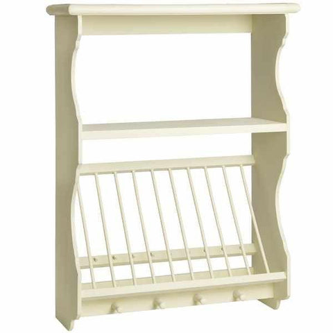 Country Kitchen Wall Unit With Plate Rack