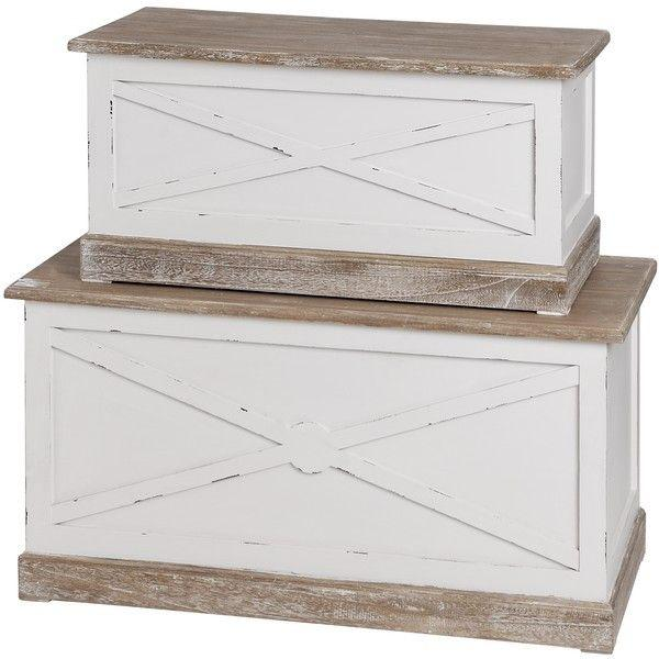 New England Set of 2 Blanket Boxes