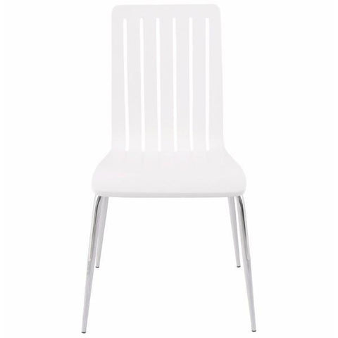 Slotted White Chair