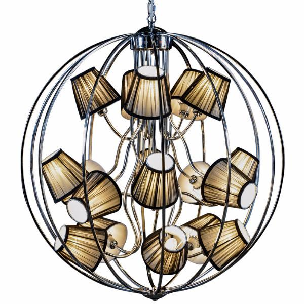 Chrome Extra Large Sphere Chandelier